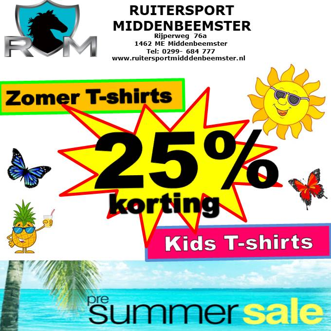 Pre SUMMER SALE. Ruitersport Middenbeemster