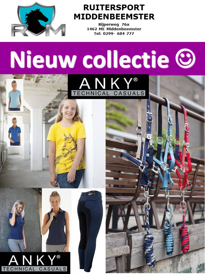 SS 19 ANKY collectie. Ruitersport Middenbeemster